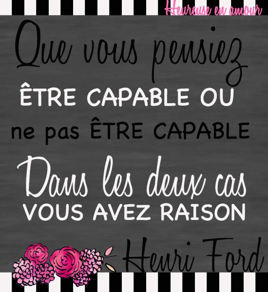 Citation Henri Ford Être capable Heureuse en amour